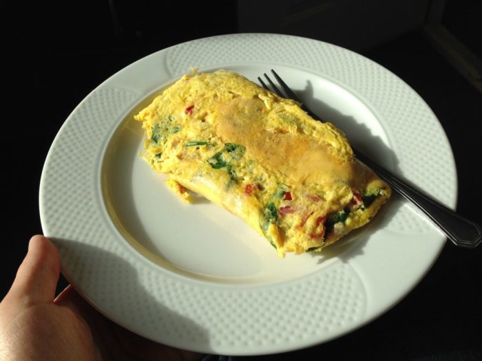 Mic dejun ficat gras: omleta
